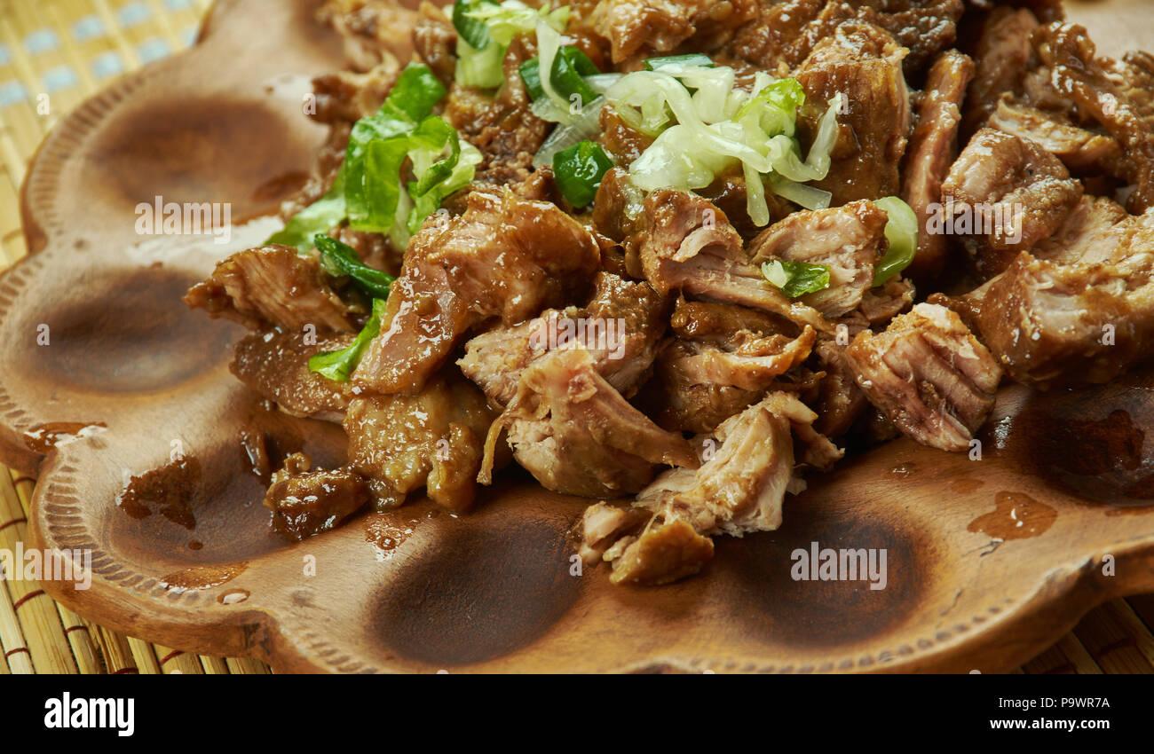 Carnitas - Mexican Slow Cooker Pulled Pork,  Pork Carnitas - Stock Image