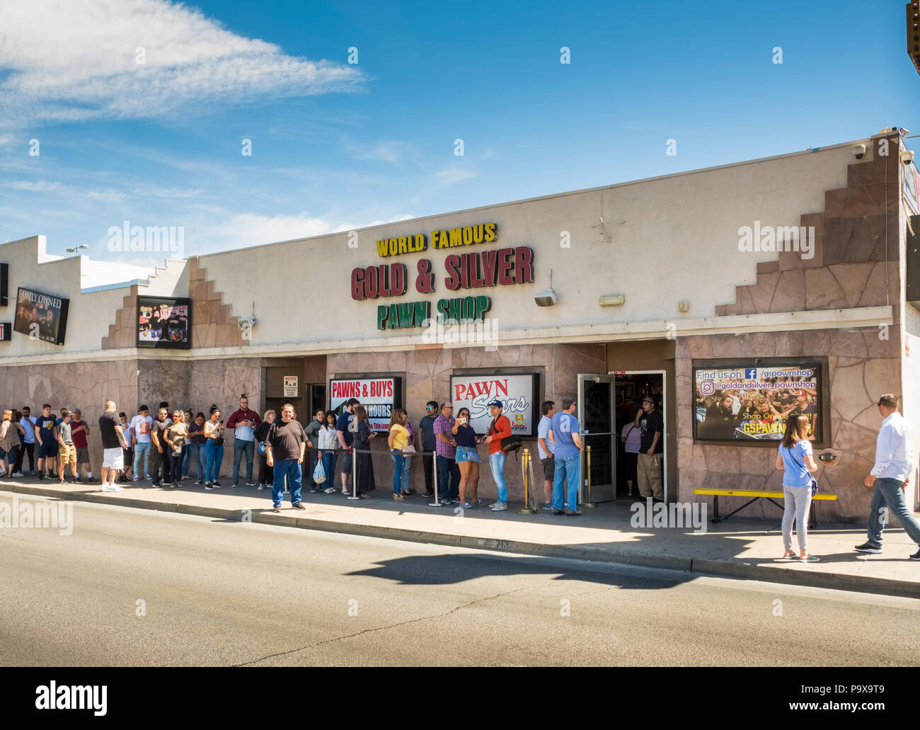 The Gold and Silver Pawn Shop of TV's Pawn Stars fame in Las Vegas, Nevada, USA - Stock Image