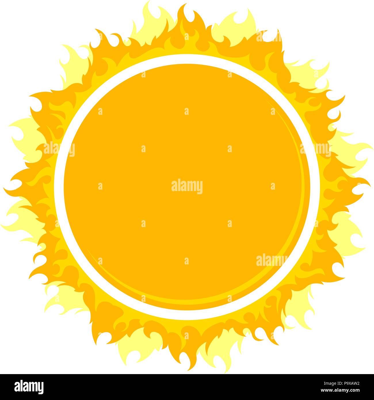Burning round frame - Stock Image