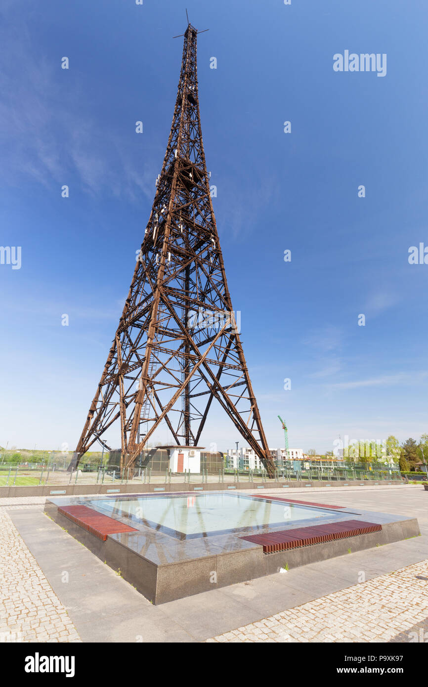 Gliwice in Silesia  An old wooden radio tower, one of the