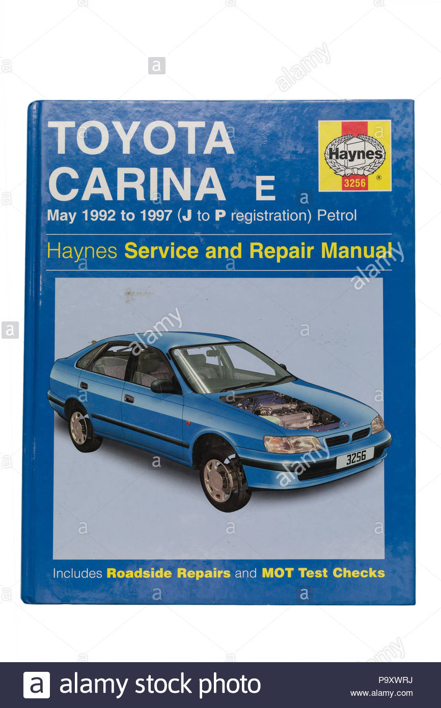 Haynes Owners Workshop Manual, Toyota Carina E, May 1992 to 1997, J to P registration, petrol - Stock Image