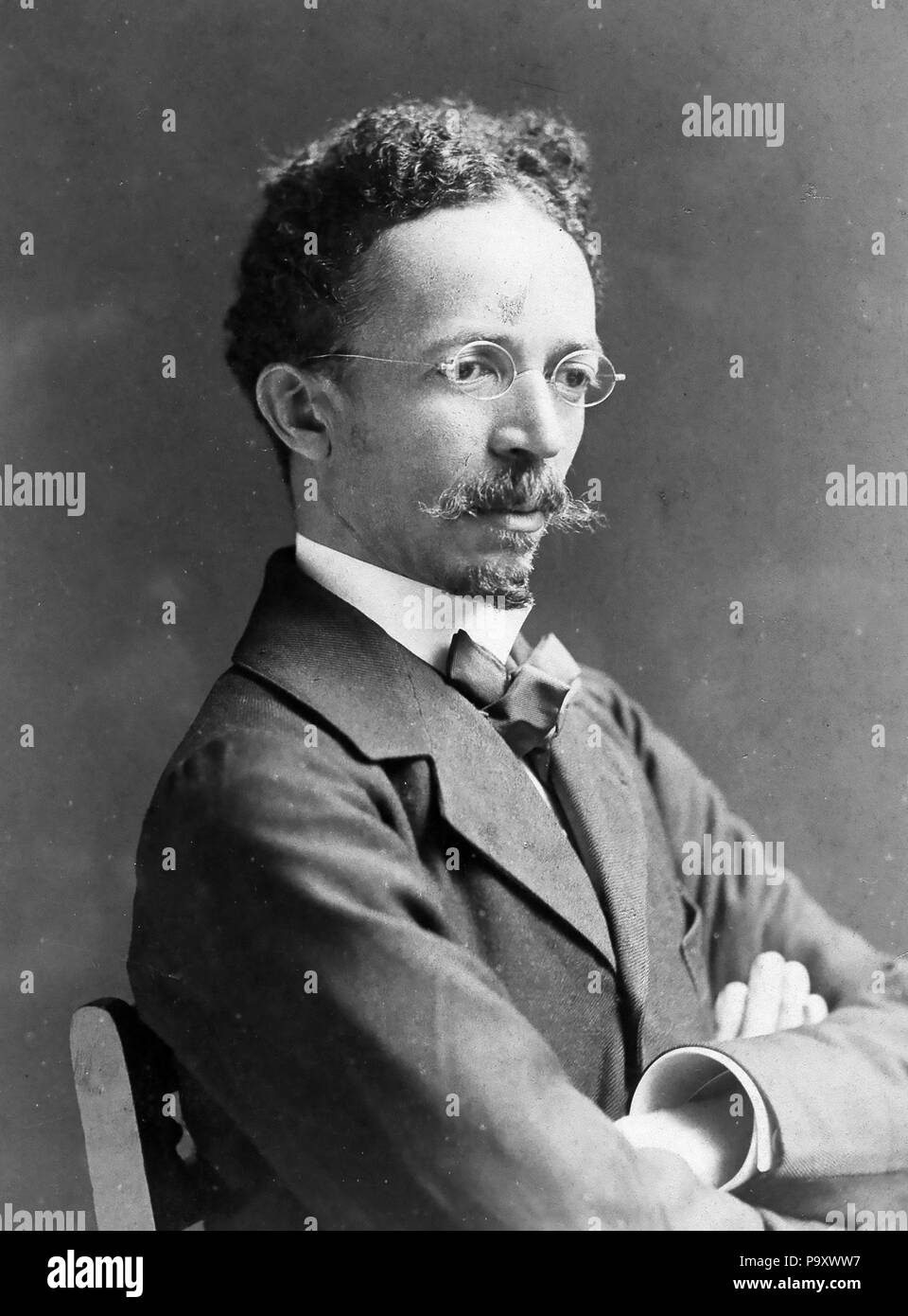 HENRY OSSAWA TANNER (1859-1937) American artist photographed in 1907 by Frederick Gutekunst Stock Photo