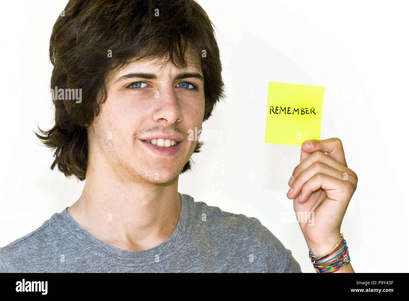 young people,message,remember Stock Photo