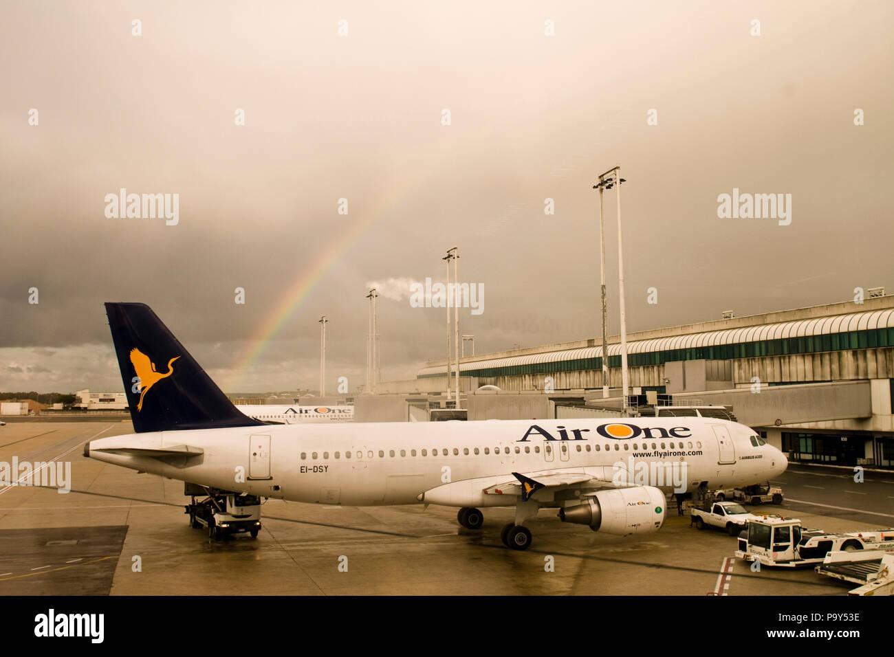 Italy,Lazio,Rome Fiumicino airport - Stock Image