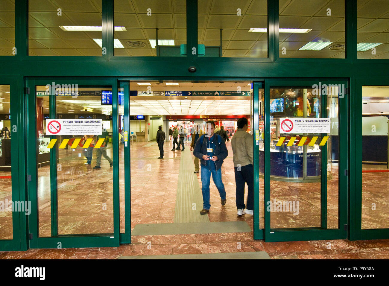 Italy,Emilia Romagna,Bologna-Borgo Panigale,Guglielmo Marconi airport Stock Photo