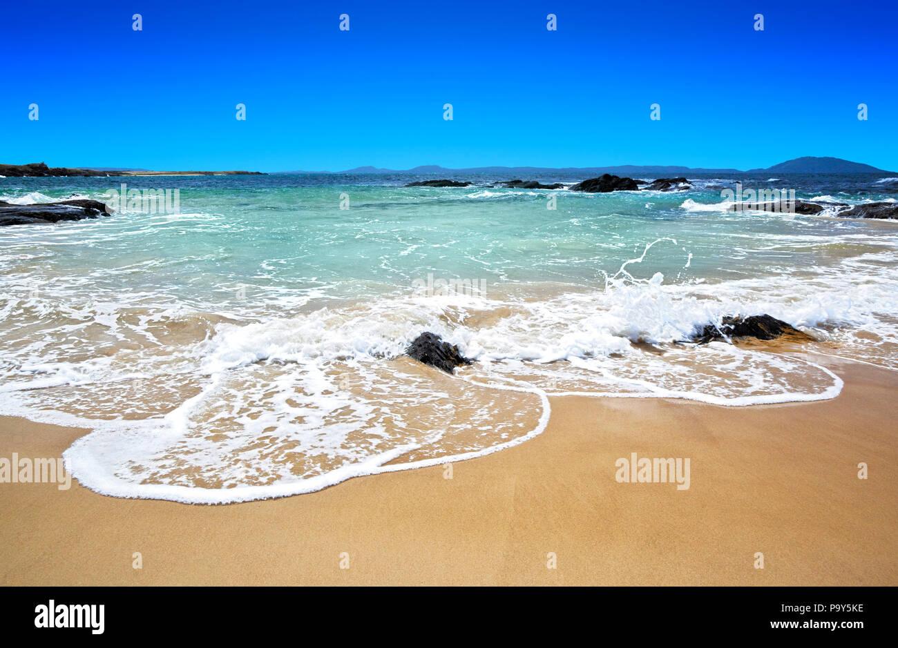 Ein wunderschoener Strand in Australien - Stock Image