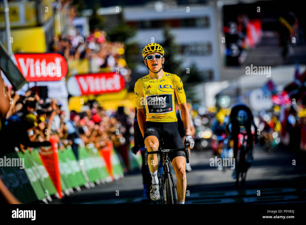 fe38a7cb3 Team Sky s Geraint Thomas wins stage twelve of the 2018 Tour de France.