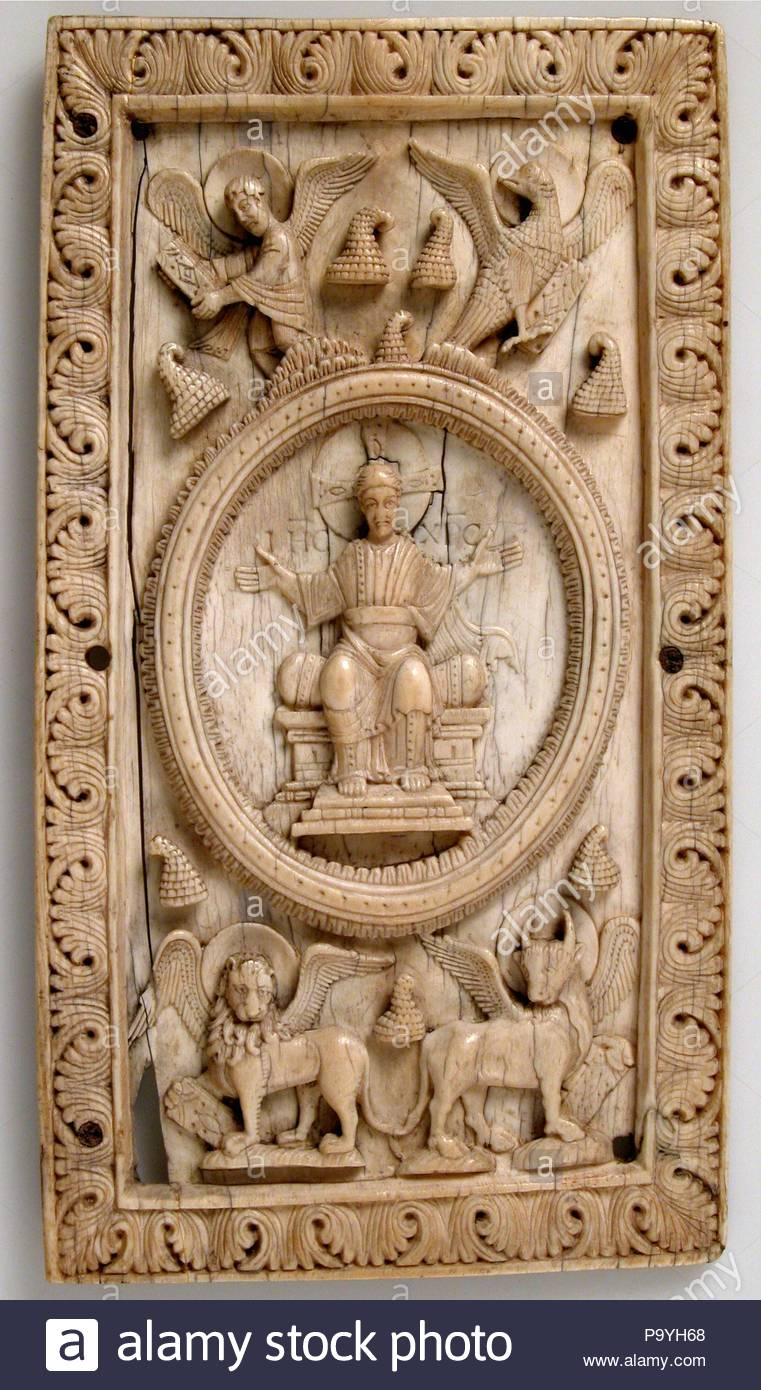 Plaque With Christ And The Symbols Of The Four Evangelists Ca 1050