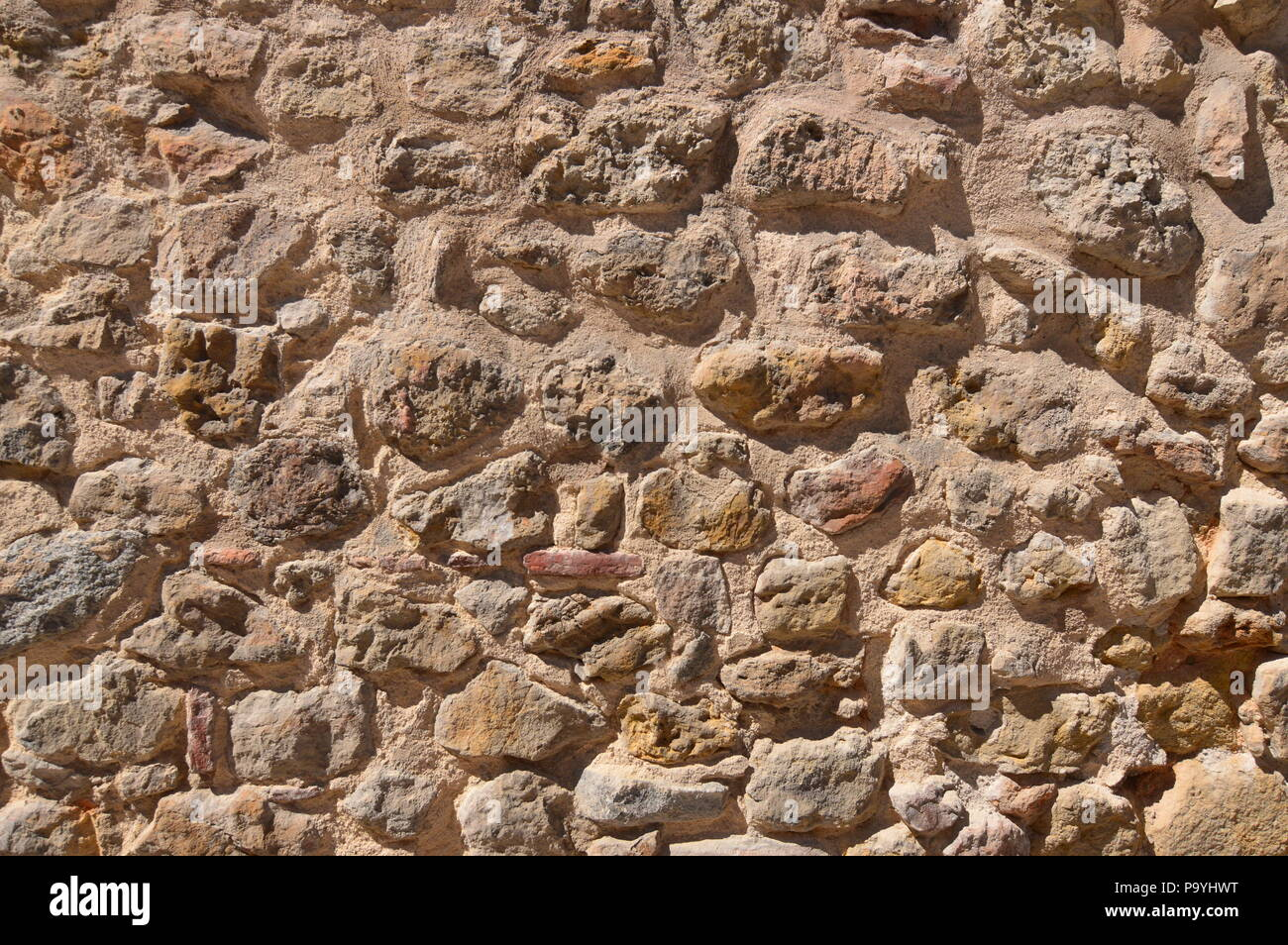Wall Of Stones For Use Of Screensaver Or Background. Wallpapers Art Screensaver. - Stock Image