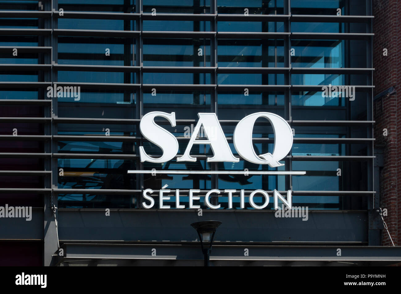 SAQ wines, a large retail store in Montreal, Quebec, Canada - Stock Image