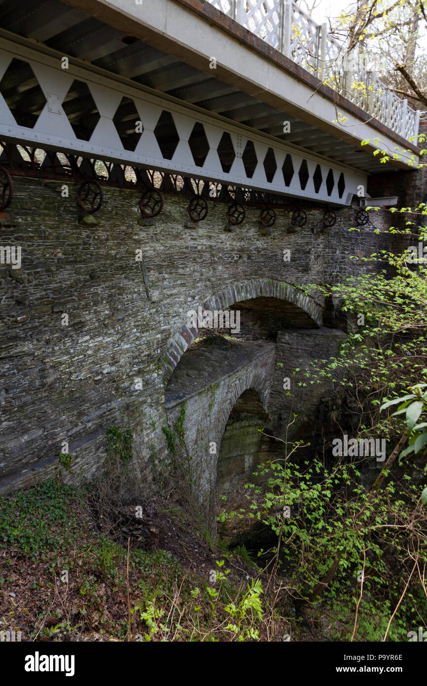 Devil's Bridge, Aberystwyth, Wales, UK - The Three Bridges - Stock Image