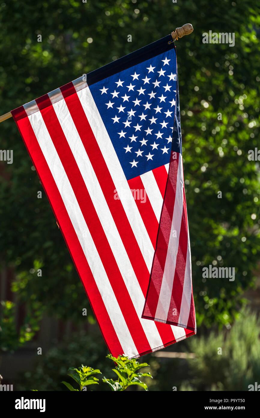 American Flag, Old Glory, Stars & Stripes - Stock Image