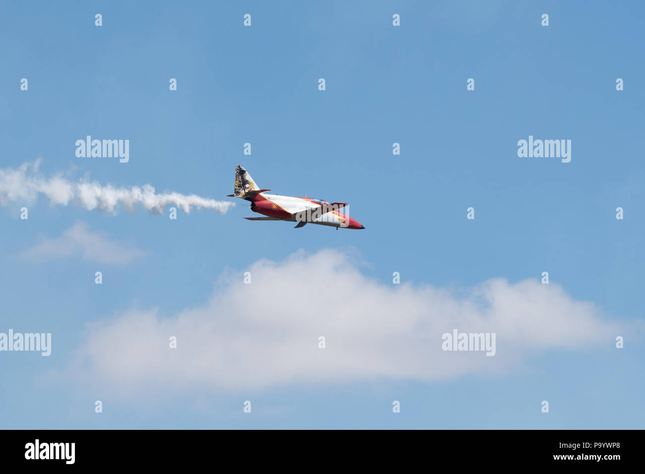 The Royal International Air Tattoo, RAF Fairford, Gloucestershire, UK.  15 July 2018.  UK weather: The hot weather attracts record crowds today.  The  - Stock Image