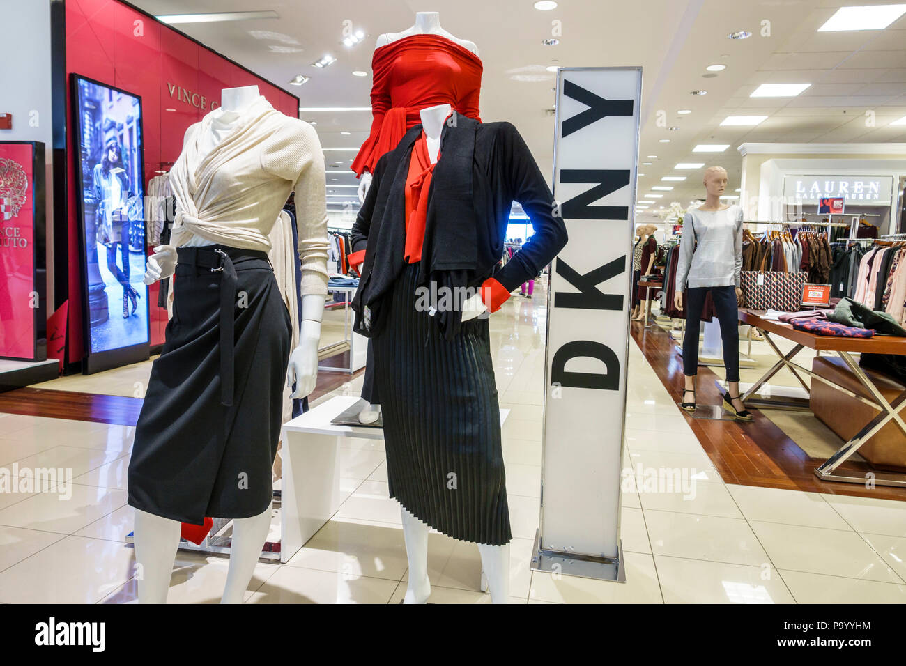 d1a3f7bb8514d Orlando Florida The Mall at Millenia shopping Macy's department store  women's clothing designer DKNY mannequin display interior