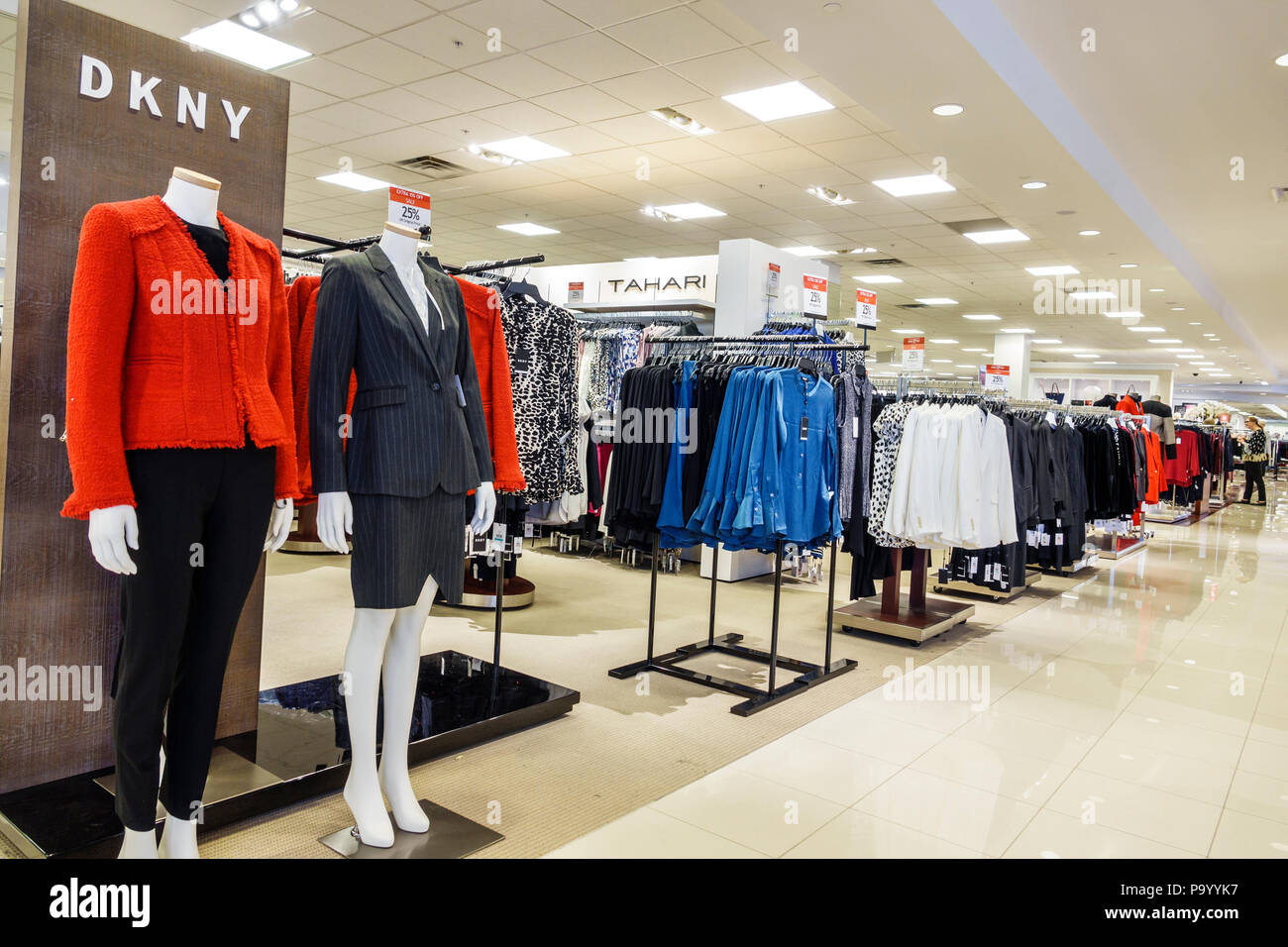 ac0e3157750e9 Orlando Florida The Mall at Millenia shopping Macy's department store  women's clothing designer DKNY career apparel mannequin display interior