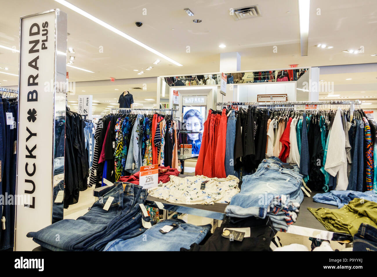 7fe5b9f15c Orlando Florida The Mall at Millenia shopping Macy's department store  women's clothing designer Lucky Brand plus