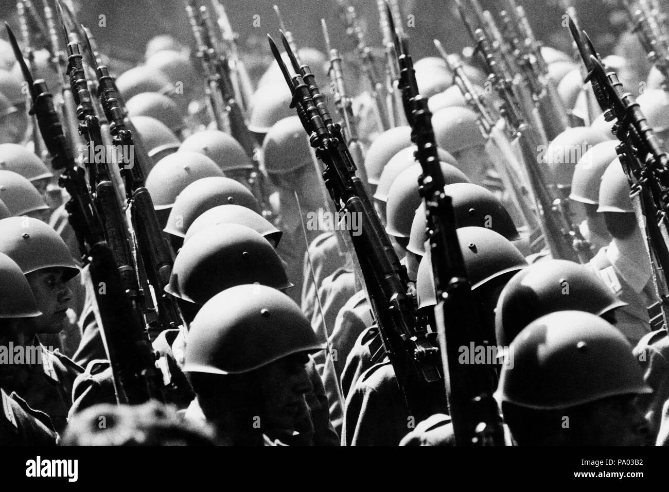2nd of June, the feast of the Italian republic, military parade, Rome 70s - Stock Image