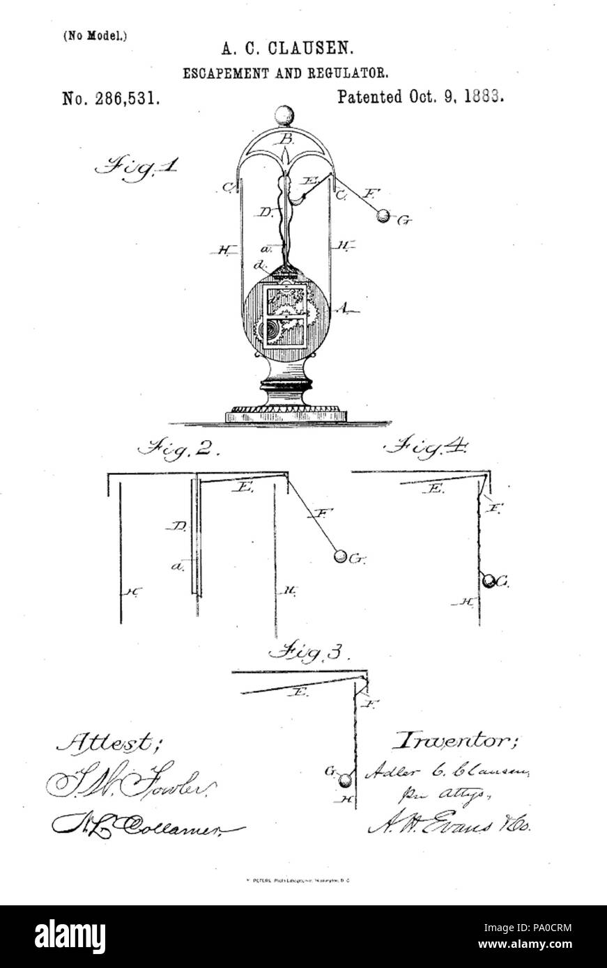 659 Flying pendulum clock Patent Stock Photo: 212681048 - Alamy