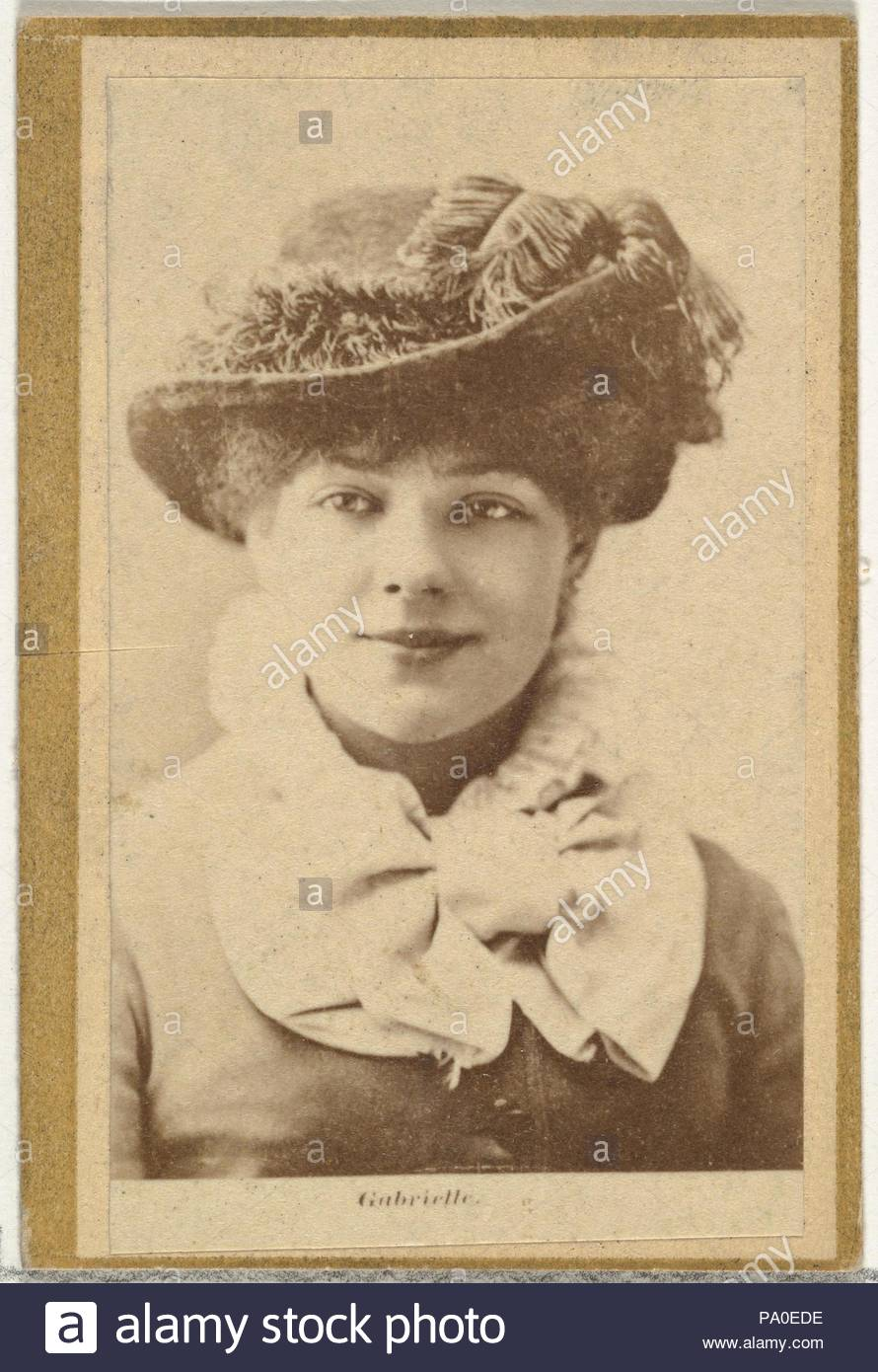 Gabrielle From Thees And Celebrities Series N Promoting Little Beauties Cigarettes For Allen Ginternd Tobacco Products 1887