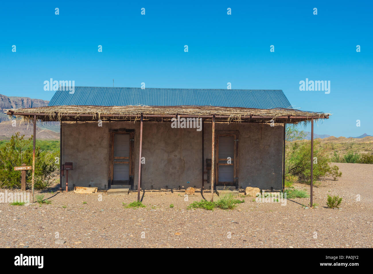 Castolon Historic District in Big Bend National Park in Texas Stock Photo
