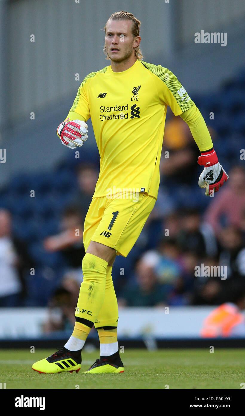 a37c311e4a0 Liverpool goalkeeper Loris Karius during a pre season friendly match at  Ewood Park