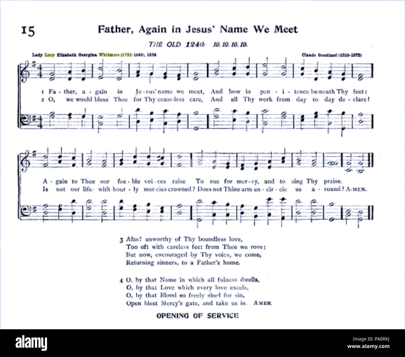 641 Father, again in Jesus' name we meet (1824 Stock Photo