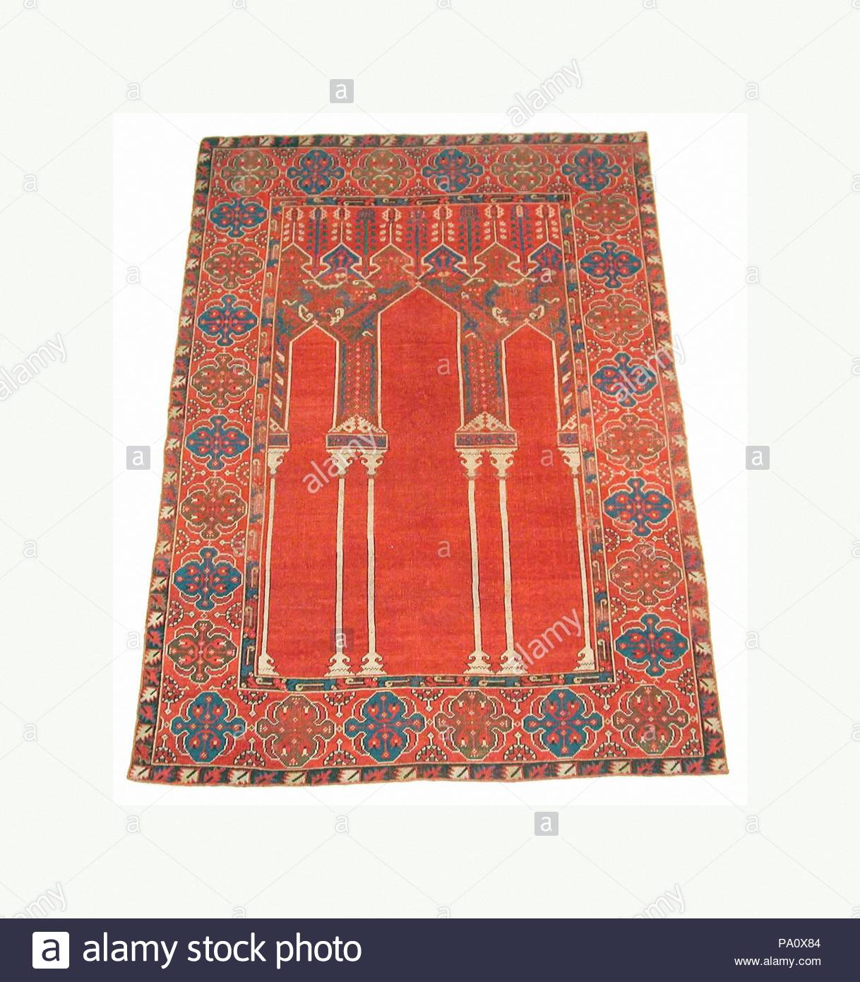 Prayer Rug With Triple Arch Design 18th Century Attributed To