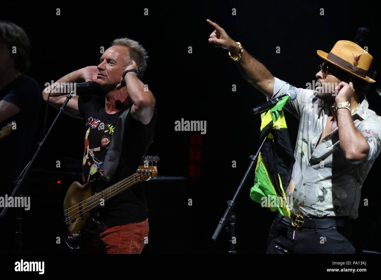July 19, 2018 - July 19, 2018 (Marbella, Malaga) Singer Sting and