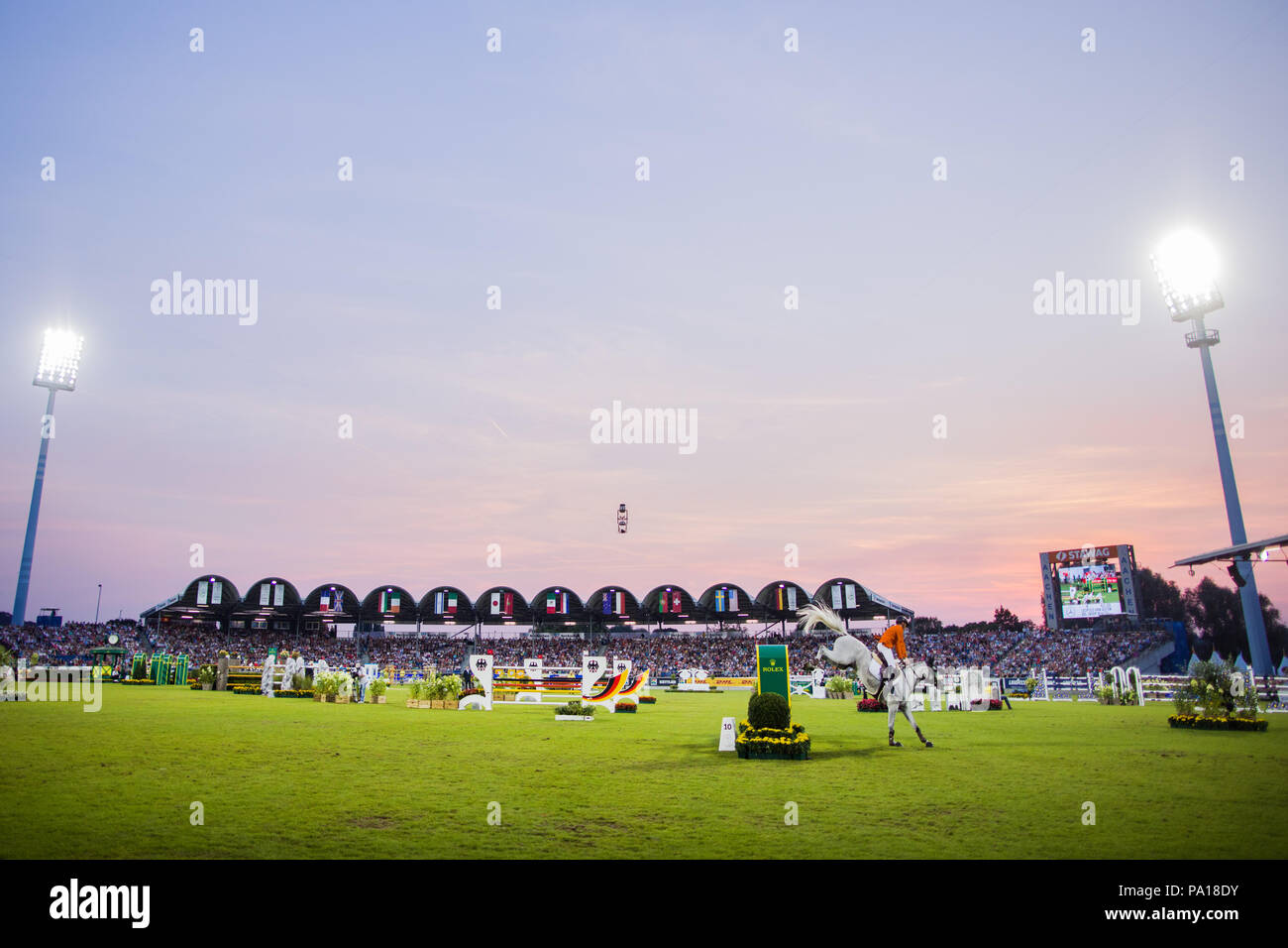 Aachen, Germany. 19th July, 2018. CHIO, Equestrian sports, jumping. Picture of the stadium. Credit: Rolf Vennenbernd/dpa/Alamy Live News - Stock Image