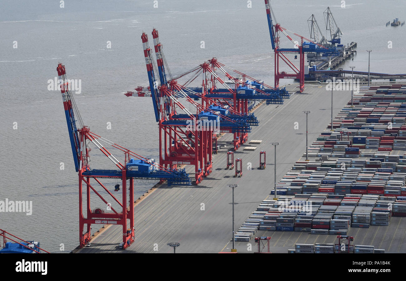 Wilhelmshaven Germany 15th June 2018 An Aerial Shot Of The