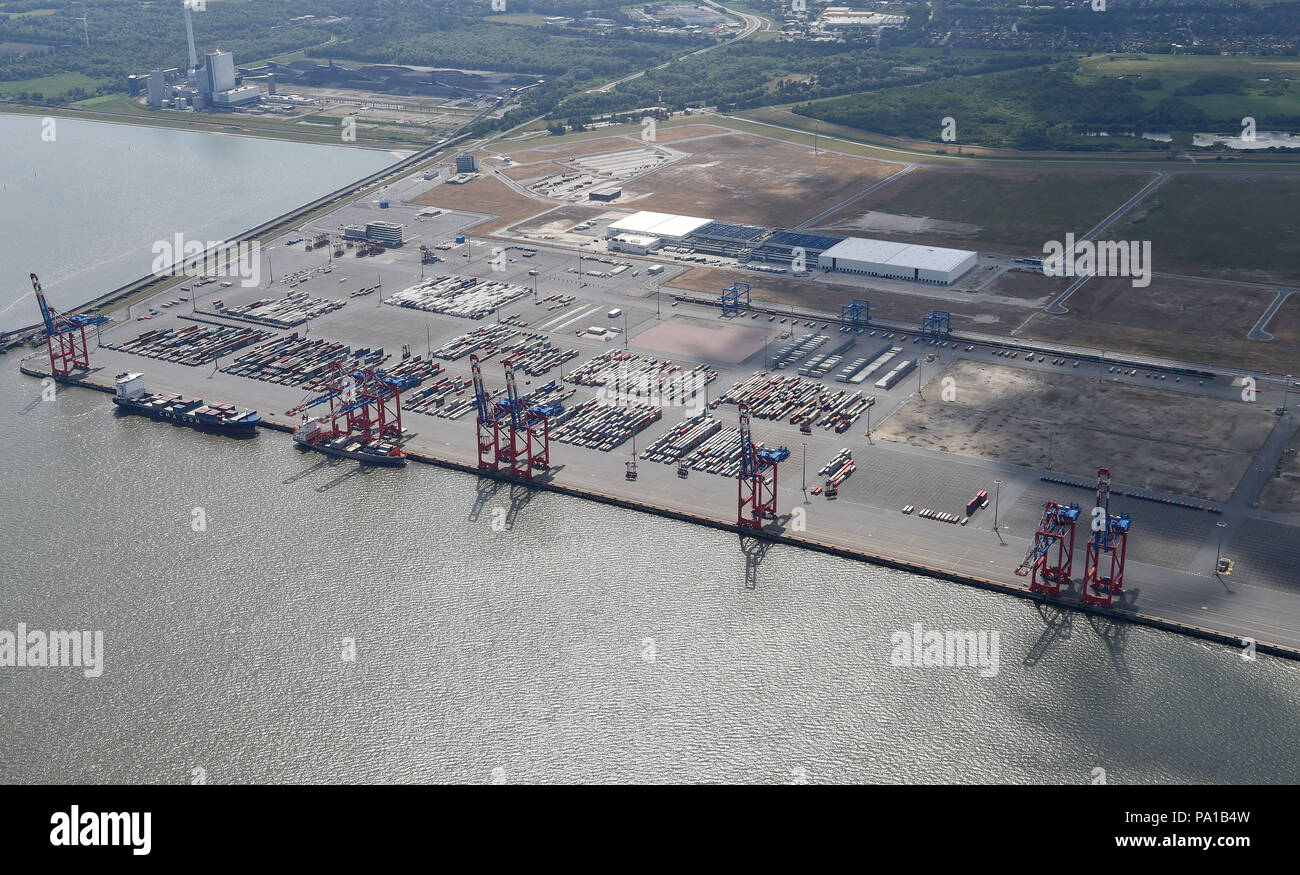 Wilhelmshaven Germany 15th June 2018 An Aerial Shot Showing