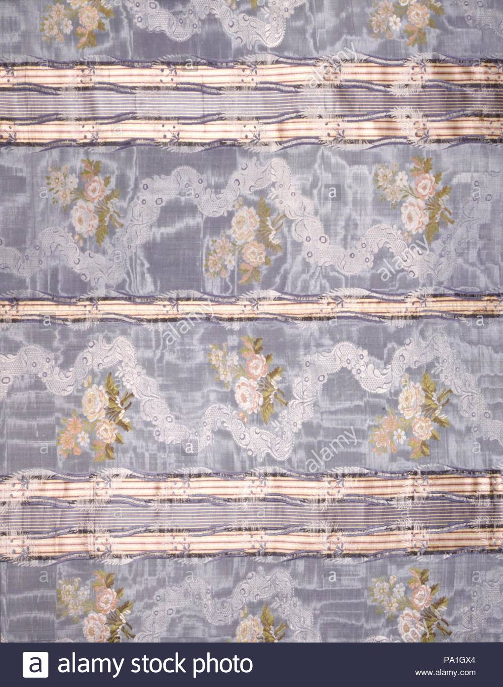 Cover or Hanging, 18th century (?), Spanish (?), Silk, 108 1/2 x 80 in. (278.5 x 205.7 cm), Textiles-Ecclesiastical. - Stock Image