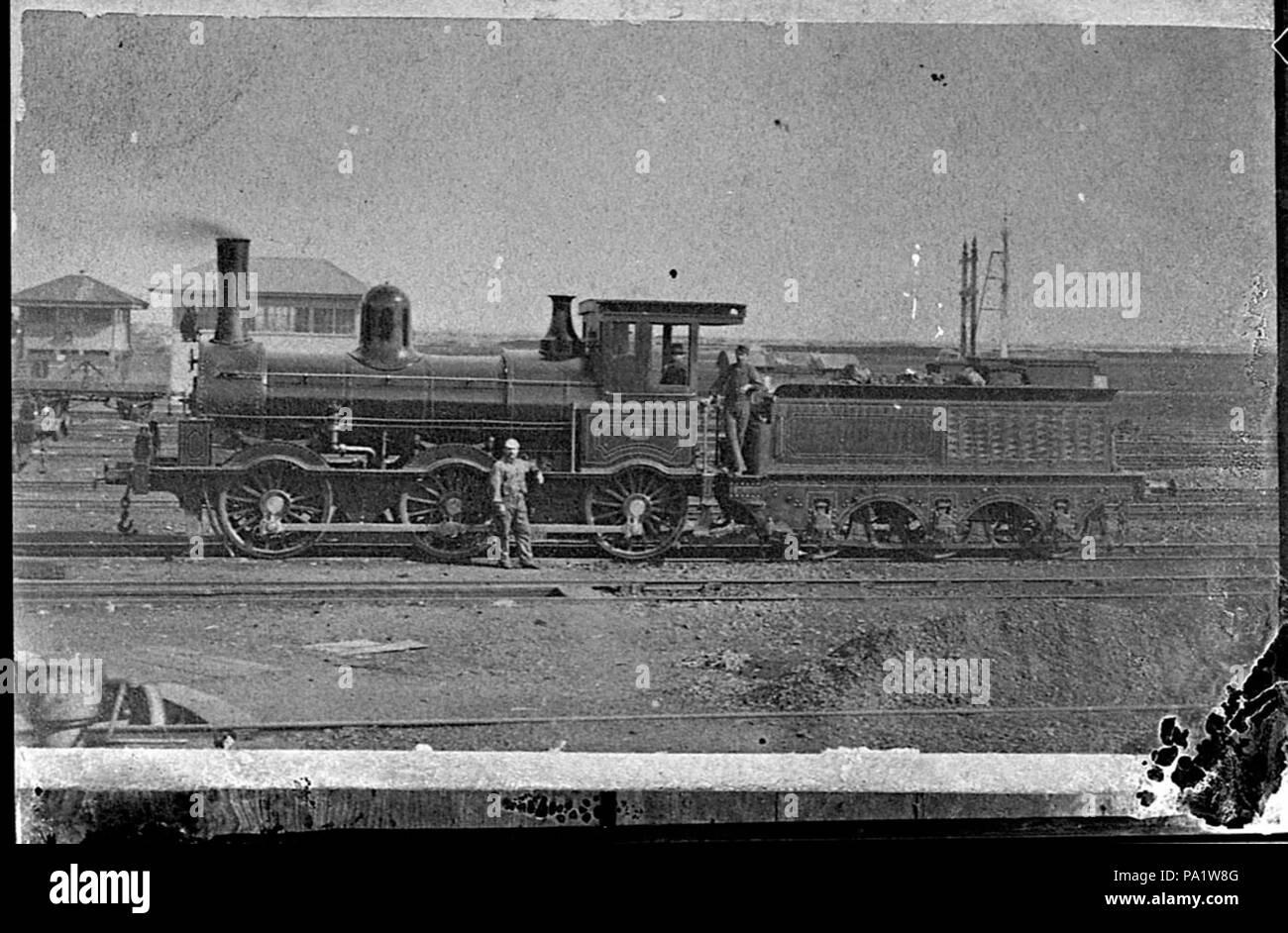 253 SLNSW 28750 Victorian Railways Beyer Peacock Q class steam locomotive ca 1870 copy photograph 1940s - Stock Image