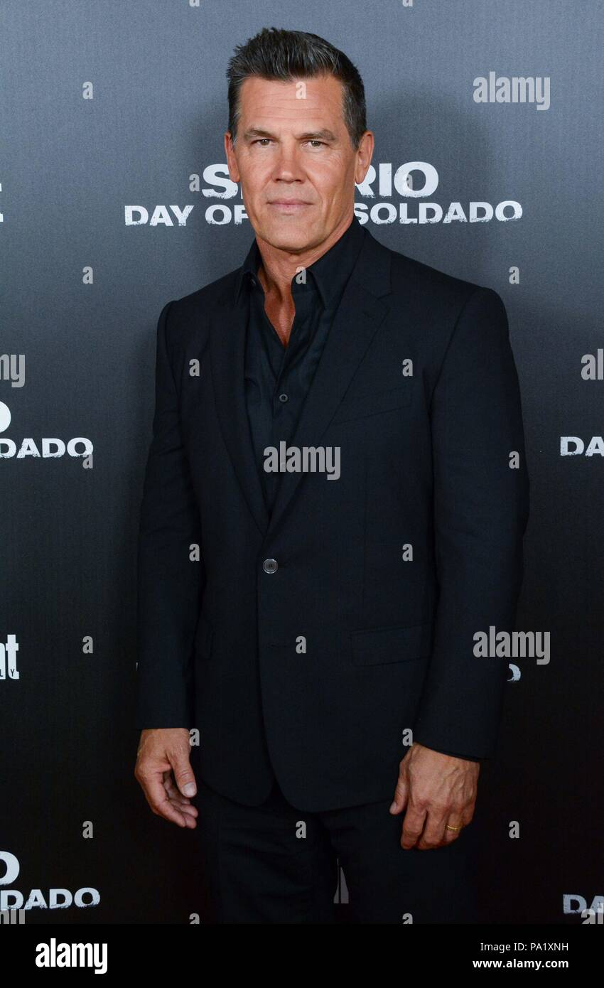 'Sicario: Day of the Soldado' Premiere - Arrivals  Featuring: Josh Brolin Where: NYC, New York, United States When: 18 Jun 2018 Credit: Patricia Schlein/WENN.com Stock Photo