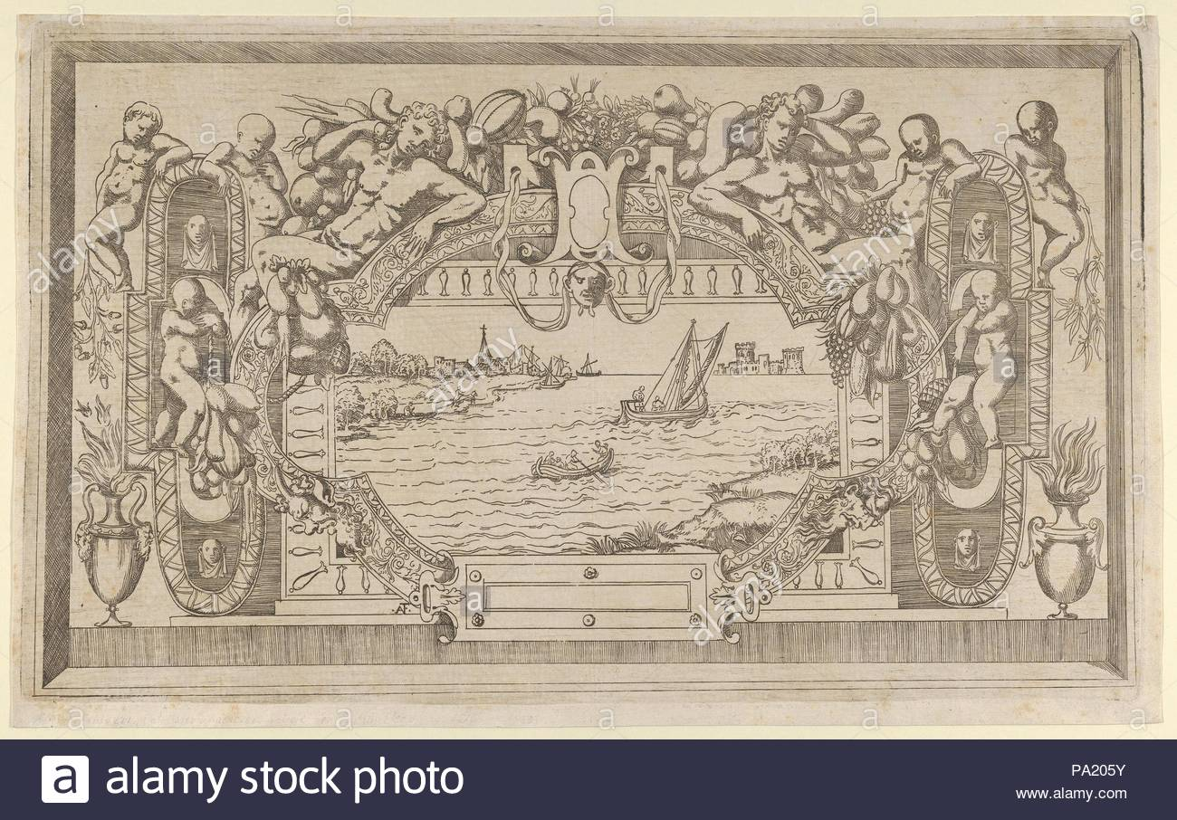 1543, Etching, Sheet: 10 1/16 x 16 1/4 in. (25.5 x 41.2 cm), Prints,  Antonio Fantuzzi (Italian, active France, 1537–45), Style of Rosso  Fiorentino (Italian, ...