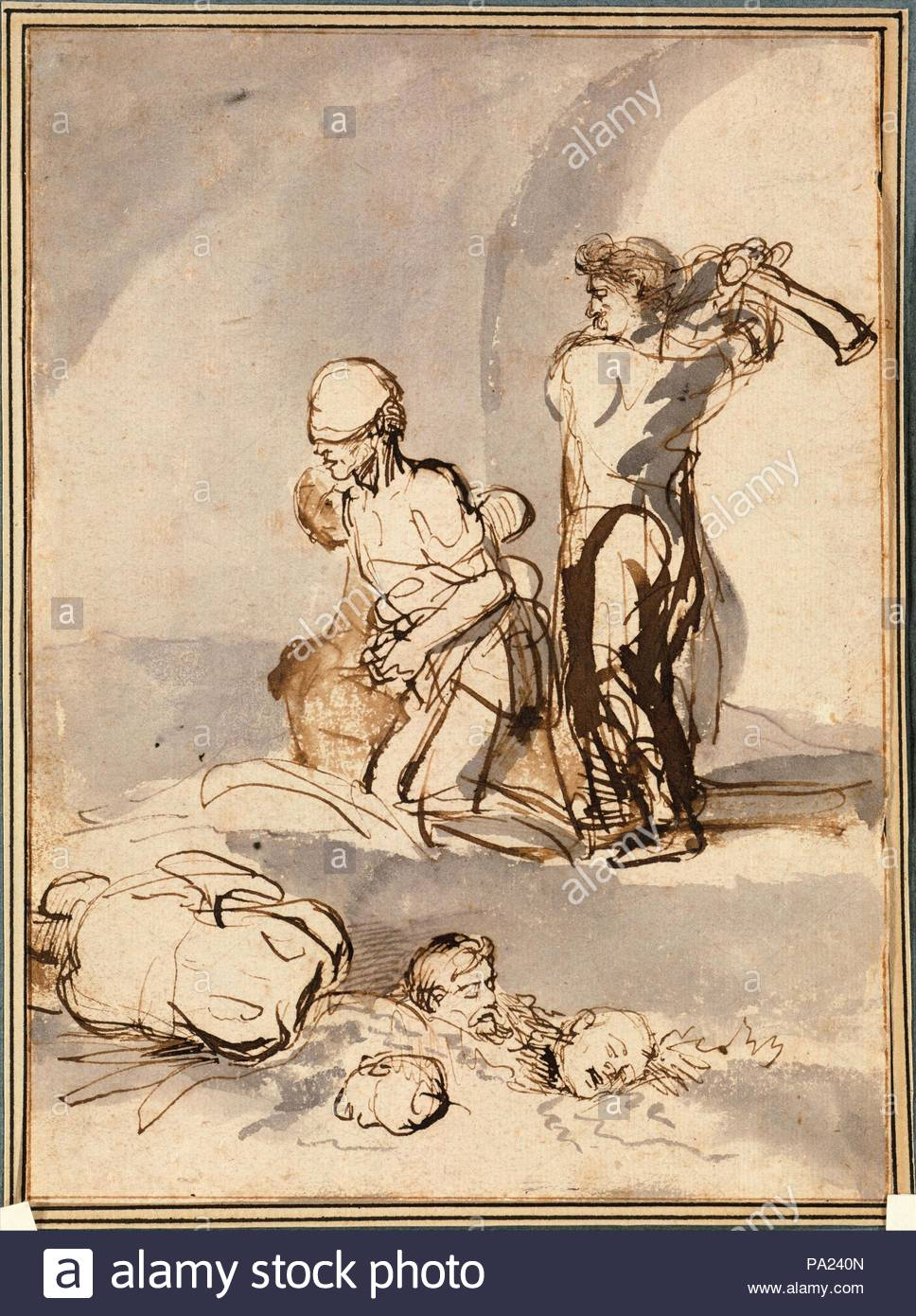 1640, Dutch, Pen and brown ink with brush and brown and gray wash., 7 1/8 x  5 1/4 in. (18.1 x 13.3 cm), Drawings, School of Rembrandt van Rijn (Dutch,  ...