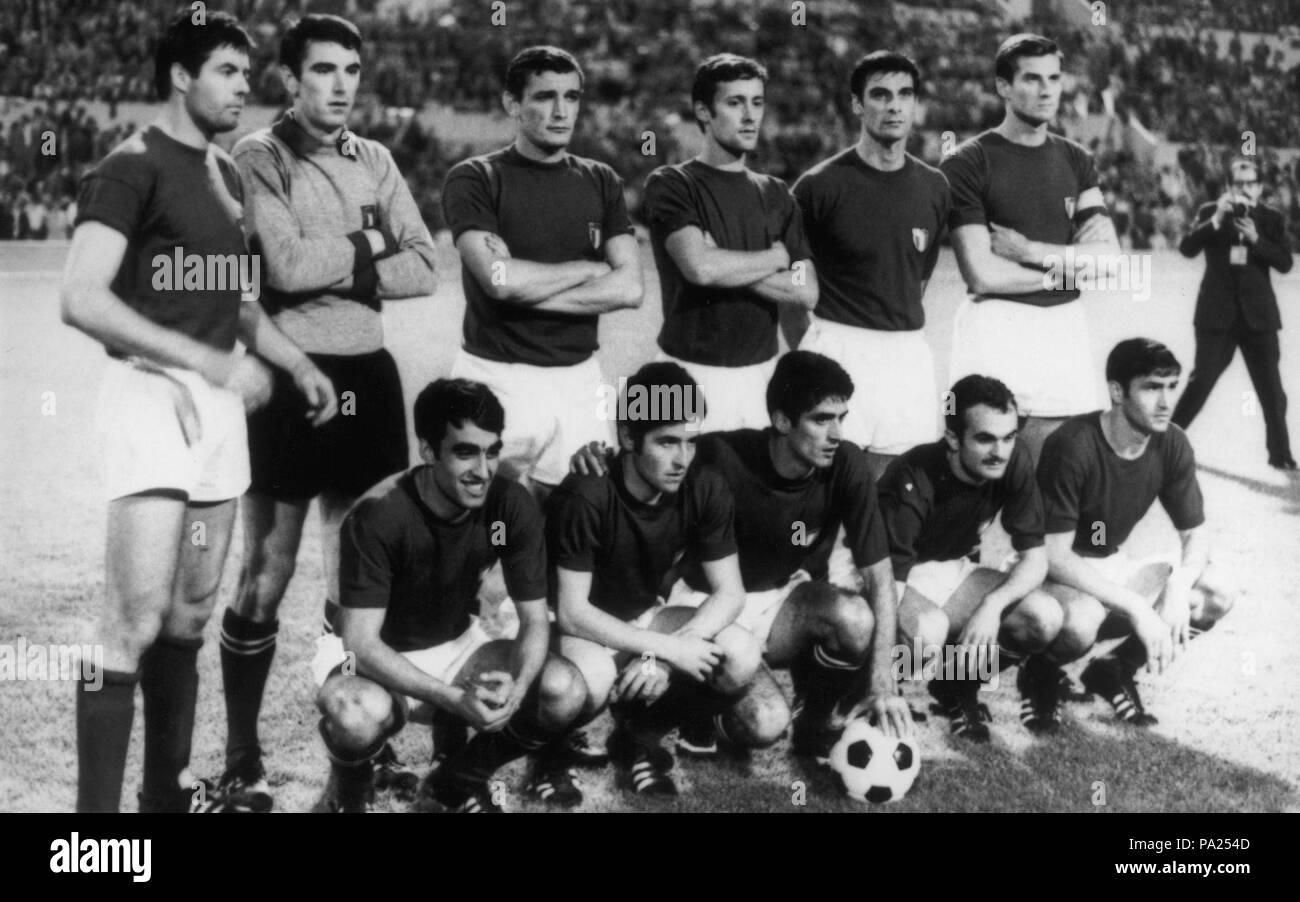 319 UEFA Euro 1968 Final - Italy - Stock Image