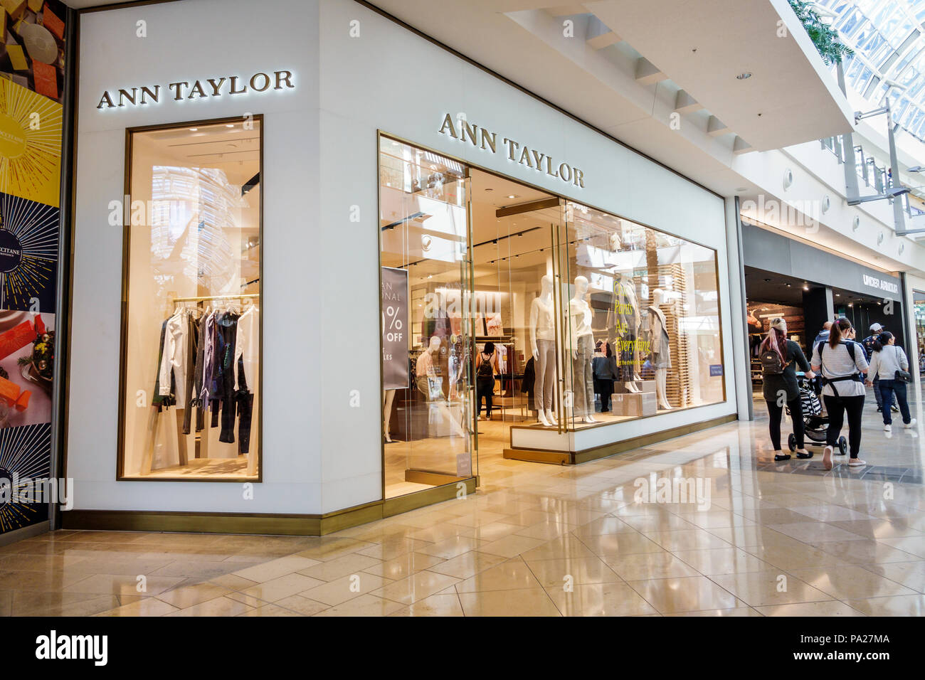 1f46b37bd16e Orlando Florida The Mall at Millenia shopping Ann Taylor women's clothing  retailer store window display entrance interior