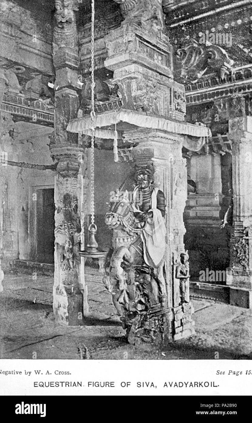 47 42Avadyarkoil Equestrian Figure of Shiva - Stock Image