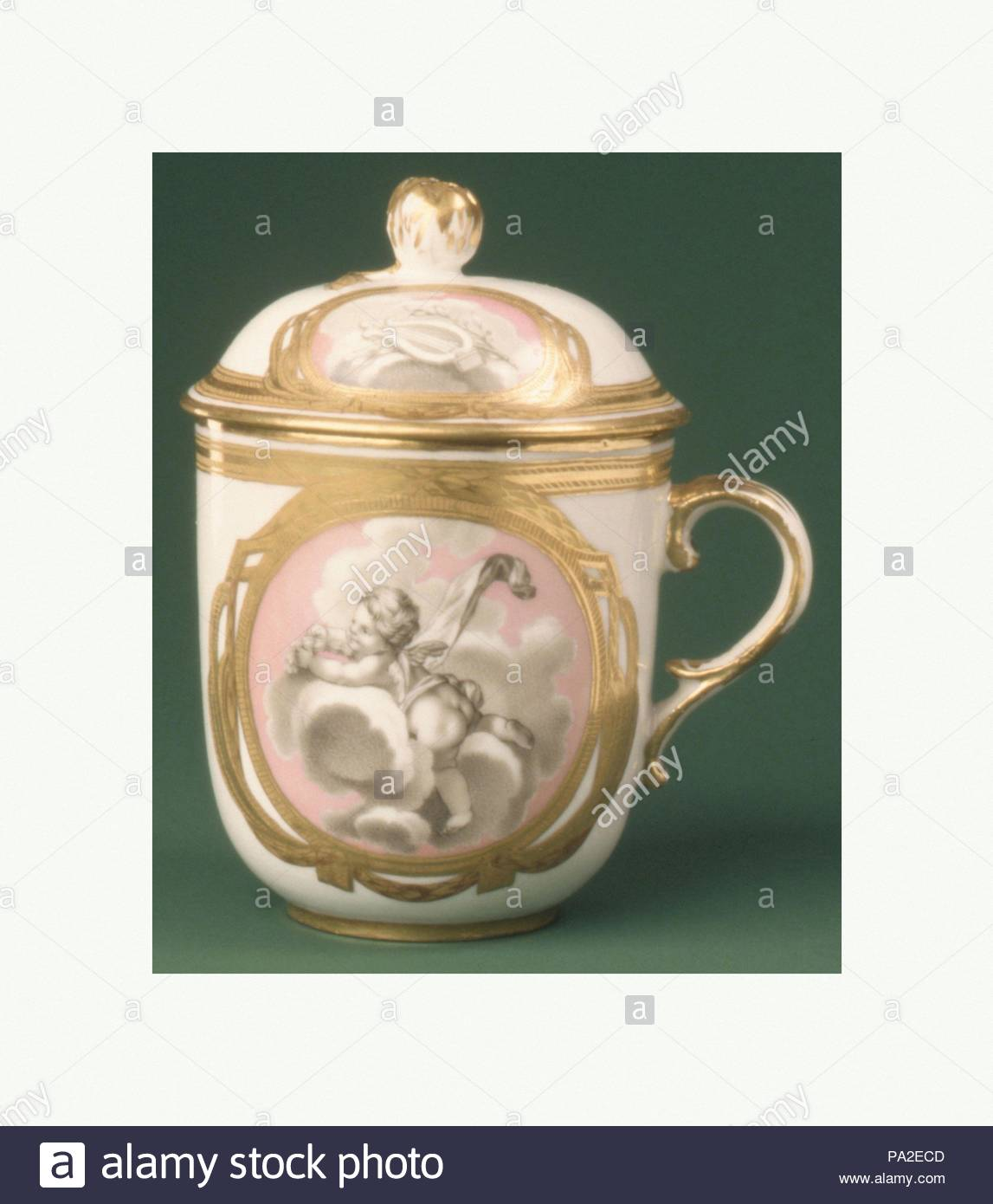 Cup With Cover From A Tea Service Ca 1775 Russian St