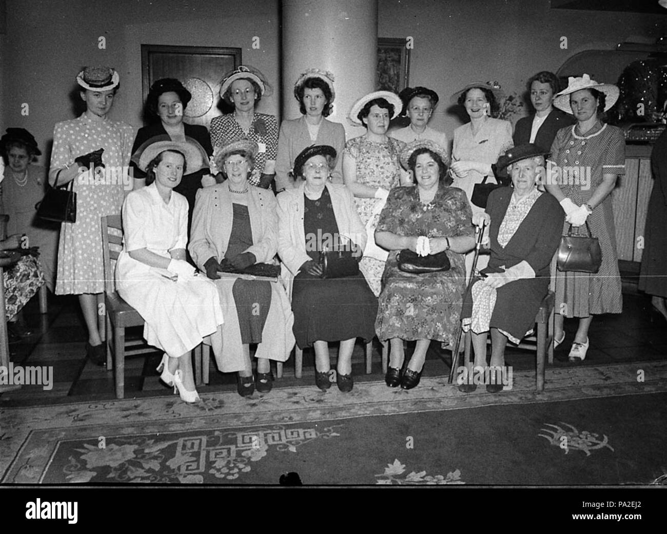 262 SLNSW 36743 Associated Bread Manufacturing Conference ladies morning tea at Cahills - Stock Image