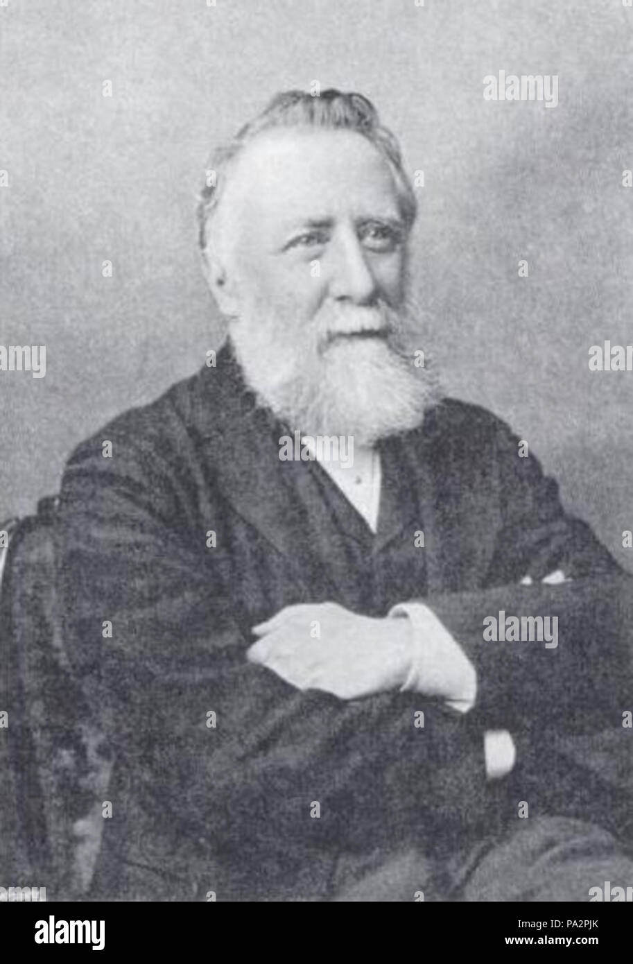 . Photo of meteorologist George James Symons, 1838 - 1900. Unknown date but Published in 1900 in conjunction with his obituary in Quarterly Journal of the Royal Meteorological Society. 707 GeorgeJamesSymons(1838-1900) - Stock Image