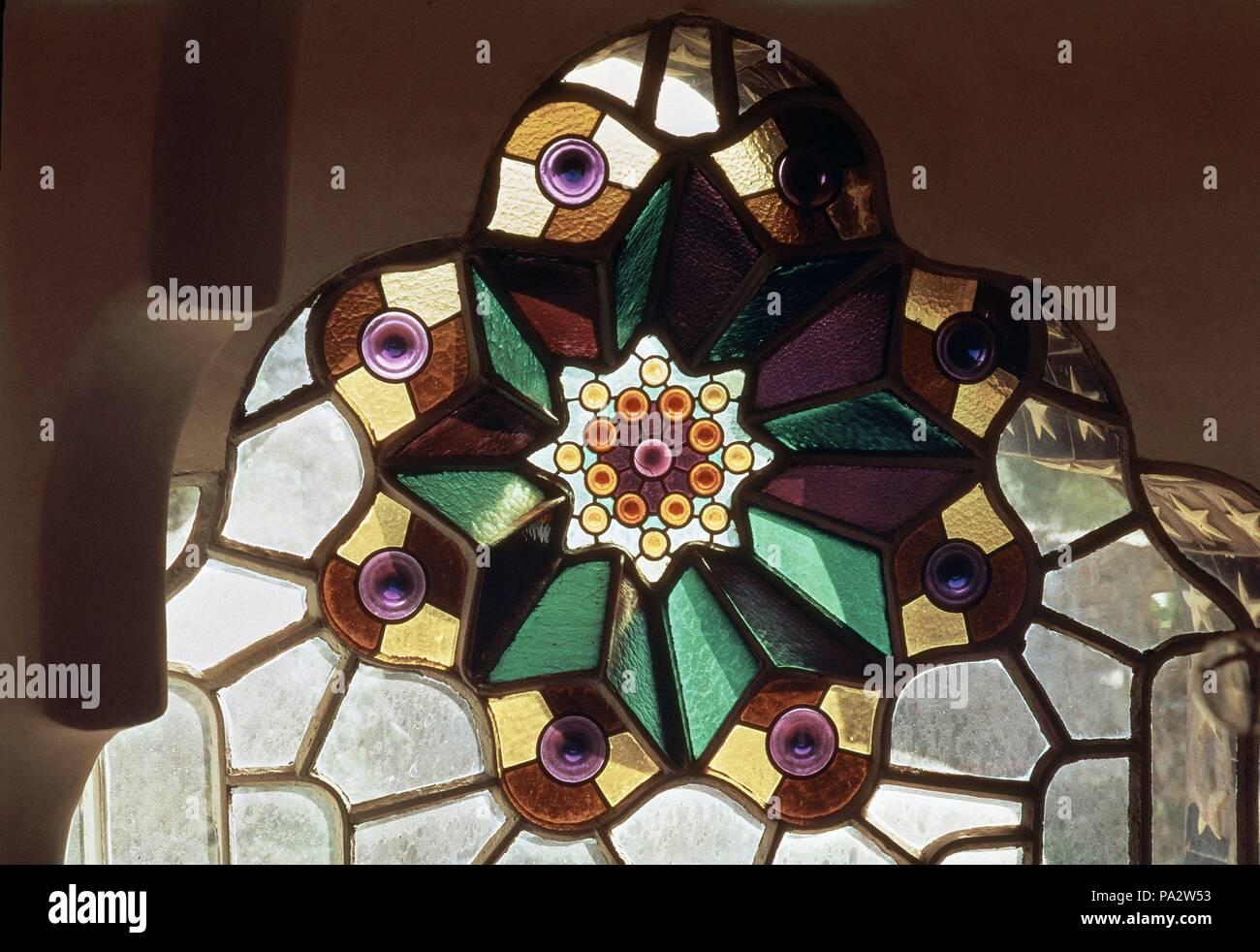 CRISTALERA - 1900. Author: Antoni Gaudí (1852-1926). Location: BELLESGUARD, BARCELONA, SPAIN. - Stock Image