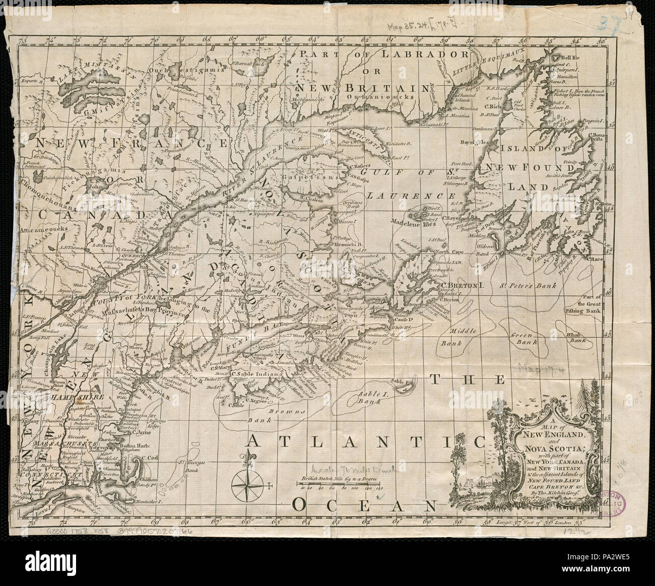 84 A map of New England, and Nova Scotia, with part of New York ...