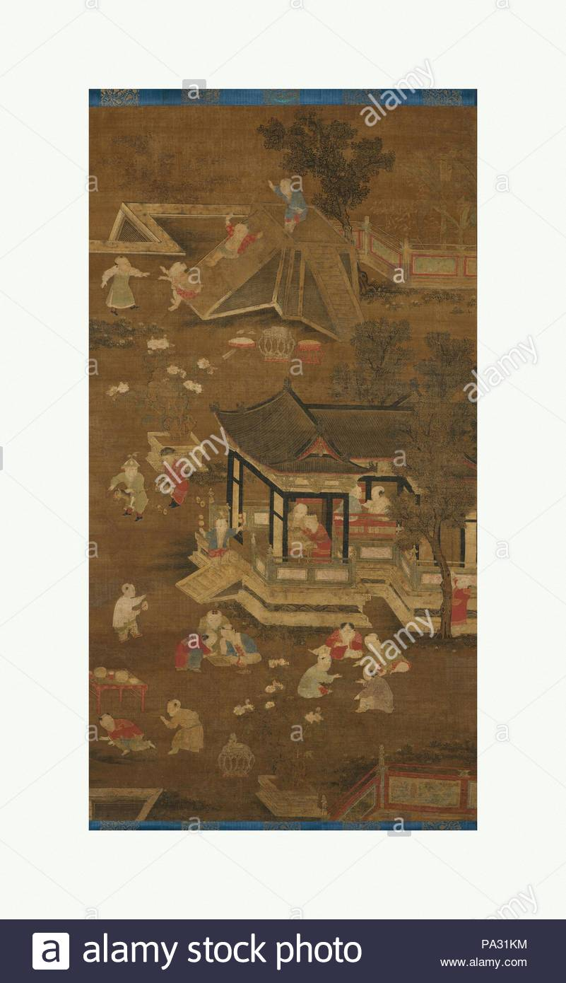 Children Playing in the Palace Garden, late Yuan (1271–1368)–early ...