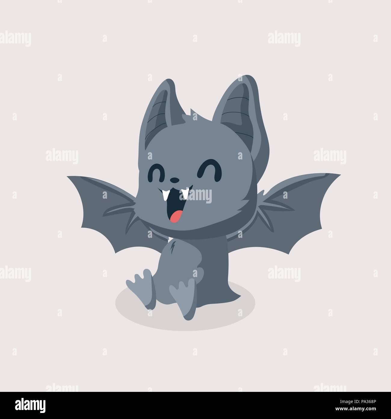 A Picture Of A Cartoon Bat cute bat cartoon on pastel background stock vector art