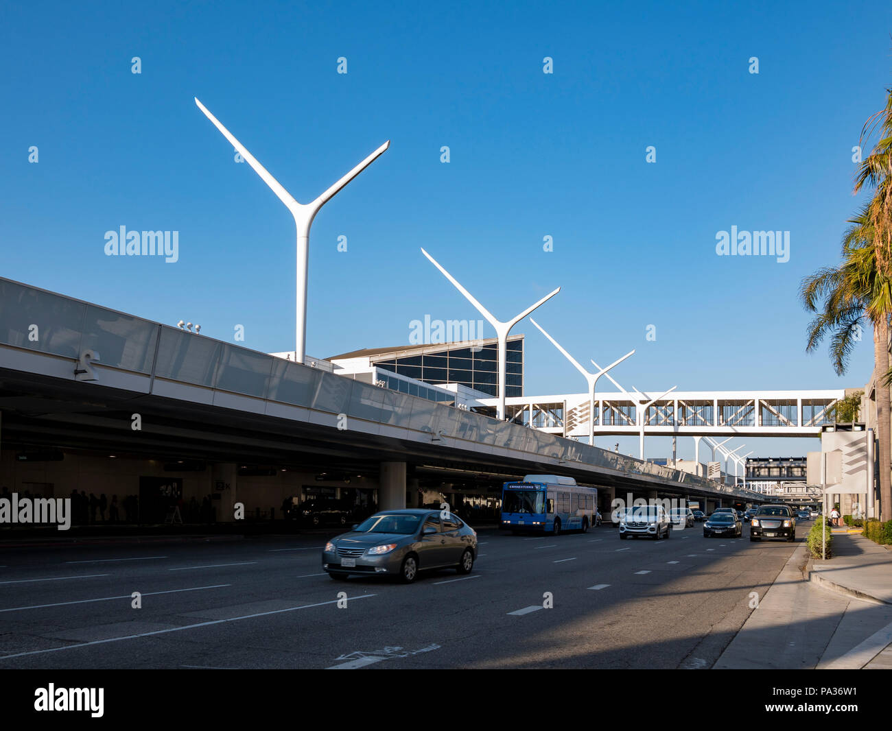 Los Angels, JUL 3: The famous LAX International Airport on JUL 3, 2018 at Los Angeles, California - Stock Image