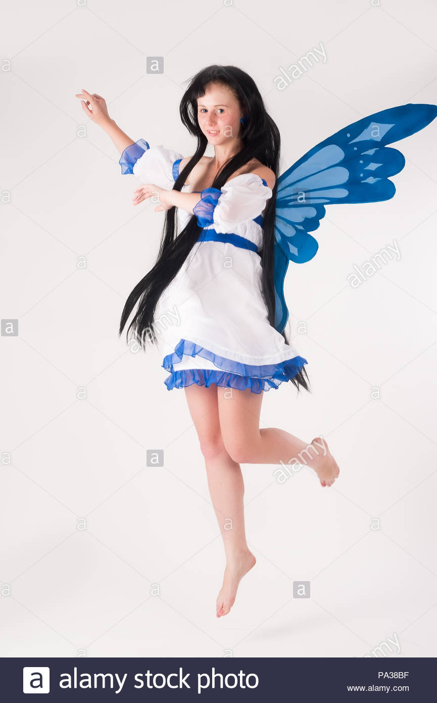 Beautiful Anime Girl With Long Hair And Wings Stock Photo 212743427