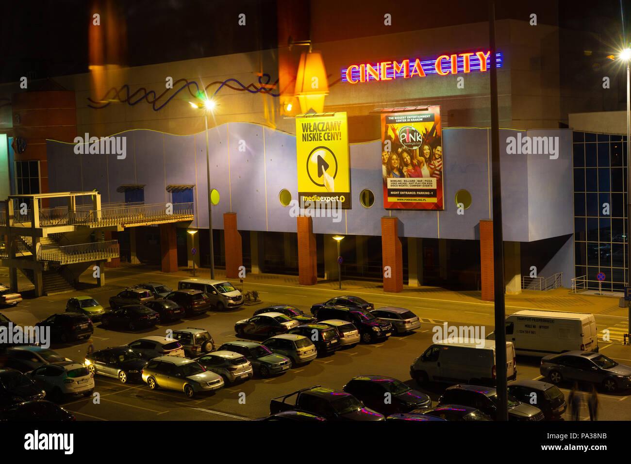 Cinema City at Gallery Plaza Krakow, Poland, Europe. - Stock Image