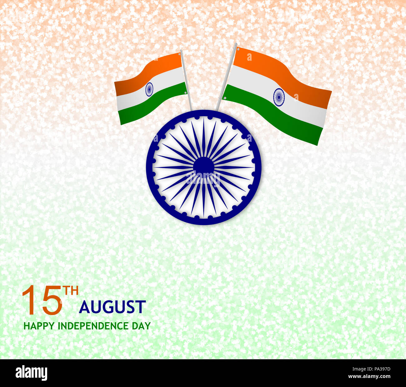 Happy independence day india postcard Stock Photo: 212744097